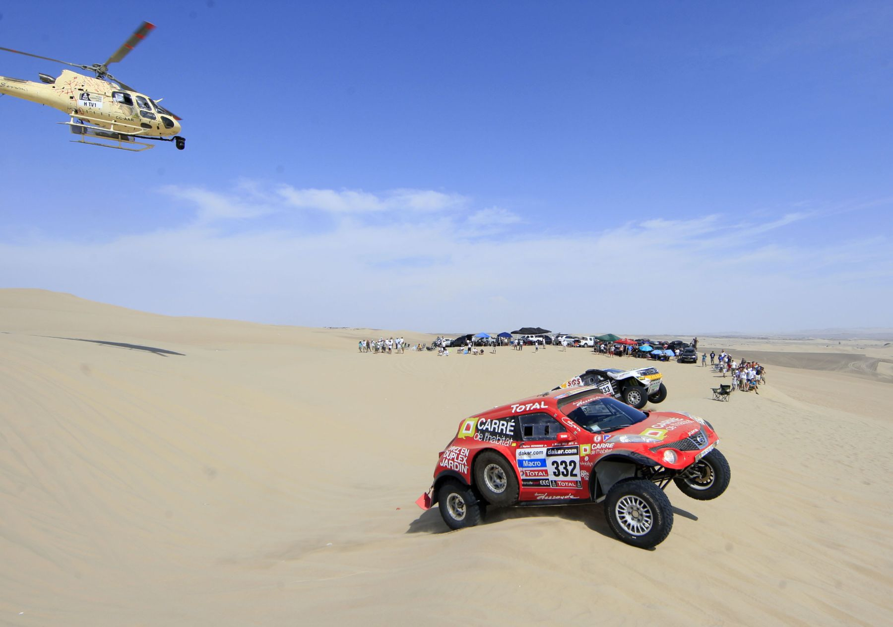 PISCO, PERÚ - ENERO 05. Dakar primera etapa en la ciudad de Pisco 2013.Foto: ANDINA/Carlos Lezama