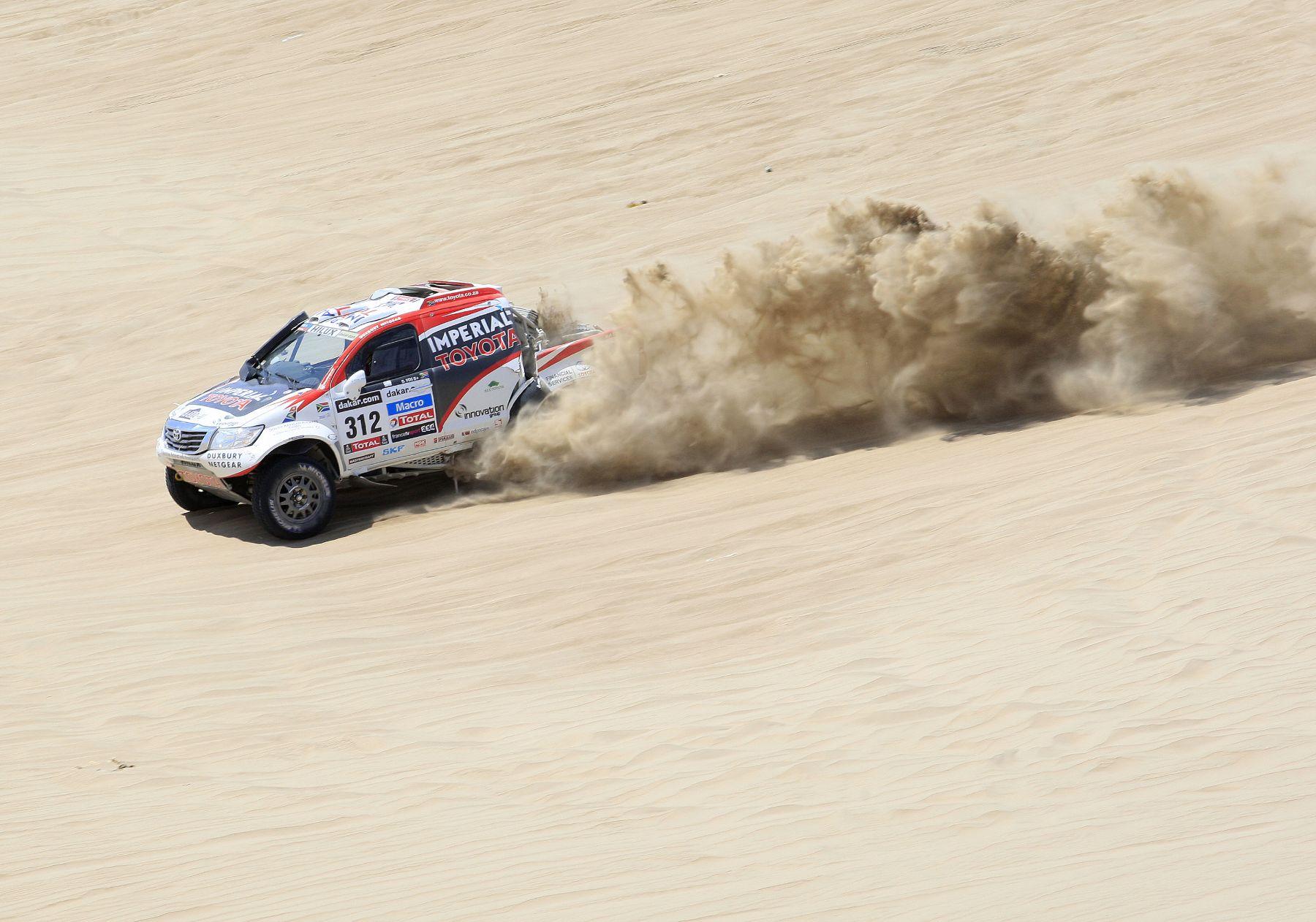 PISCO, PERÚ - ENERO 06. Rally Dakar segunda etapa en la ciudad de Pisco 2013.Foto: ANDINA/Carlos Lezama