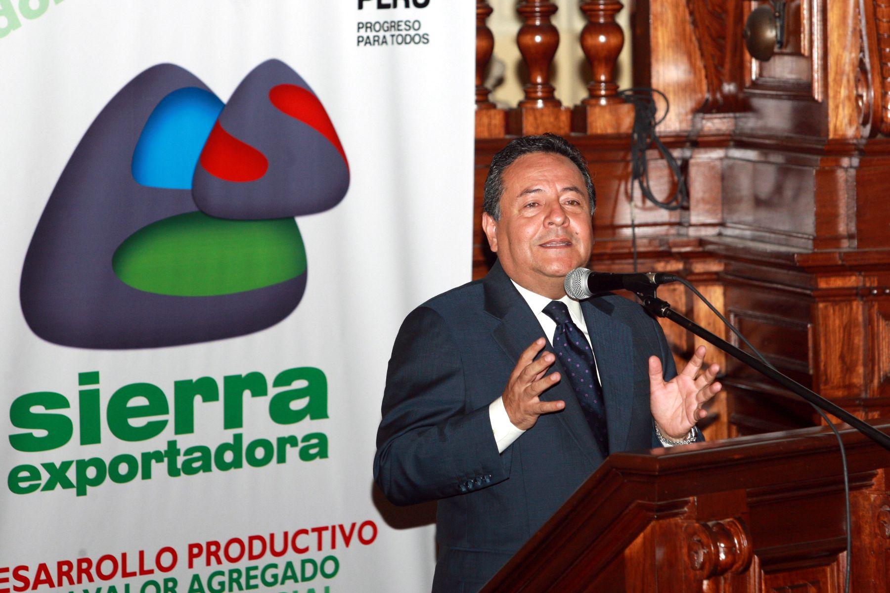 Alfonso Velásquez Tuesta, presidente ejecutivo de Sierra Exportadora. Foto: ANDINA/Norman Córdova.