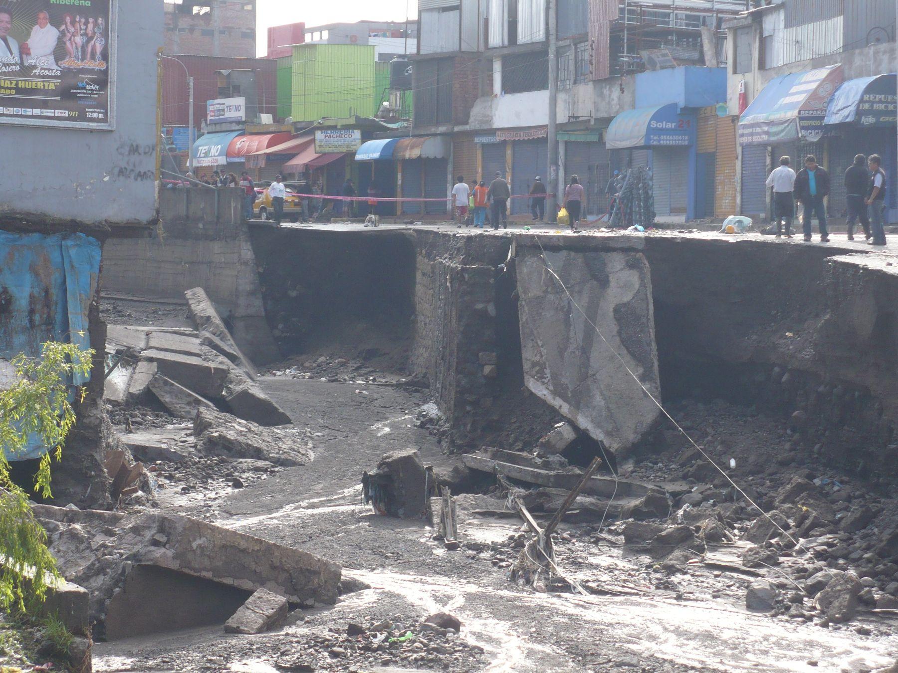 Arequipa atraviesa una dura situación por las lluvias. ANDINA/Rocío Méndez