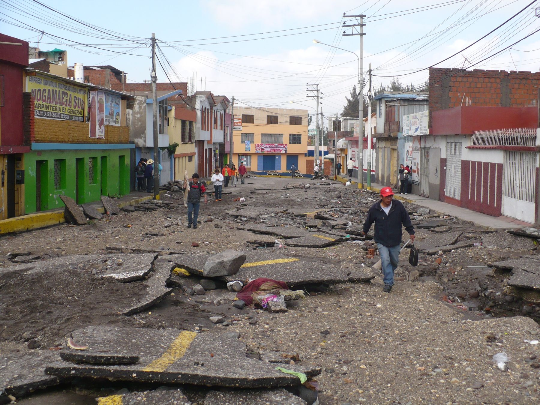 Arequipa, Perú - Febrero 09. Lluvias dejaron serios daños en Arequipa. Foto: ANDINA/Rocío Méndez.