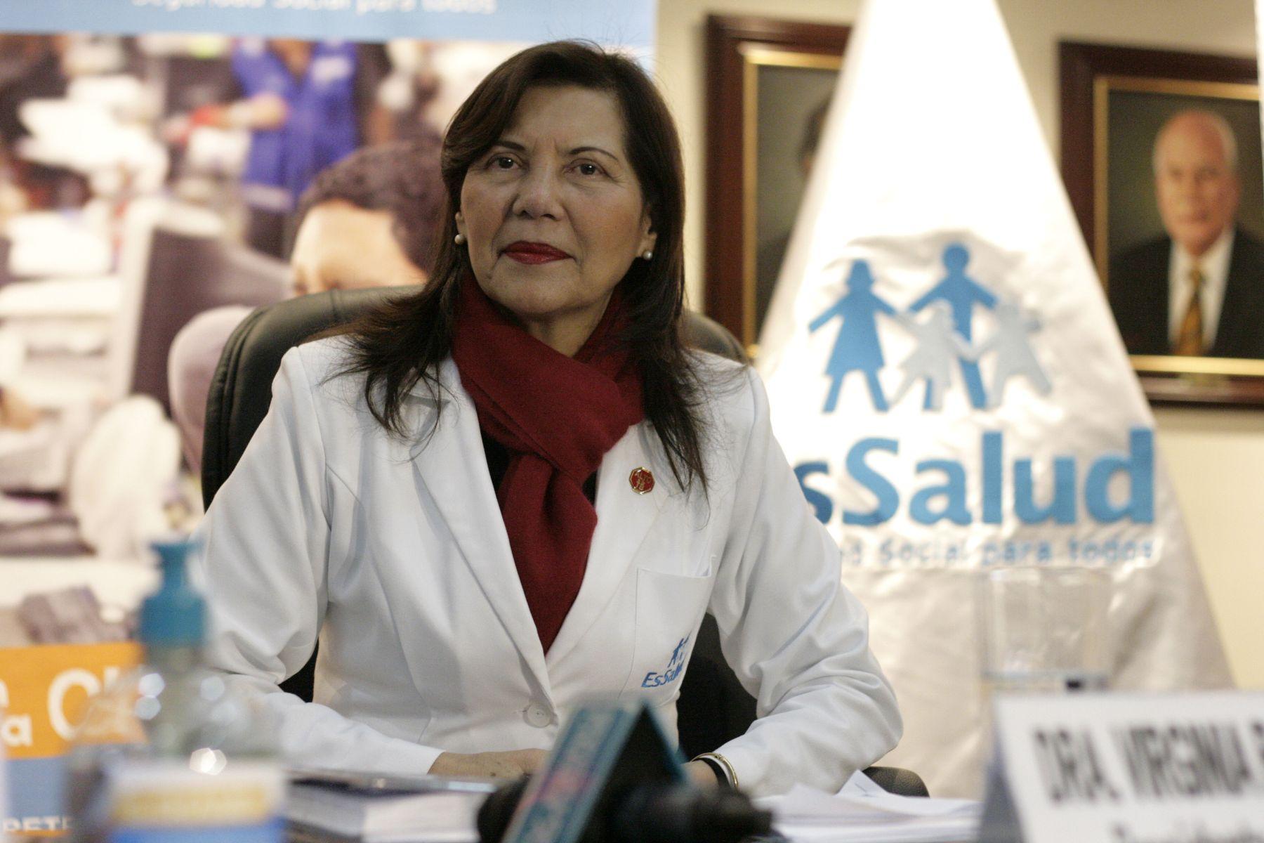 Presidenta ejecutiva de EsSalud, Virginia Baffigo. ANDINA