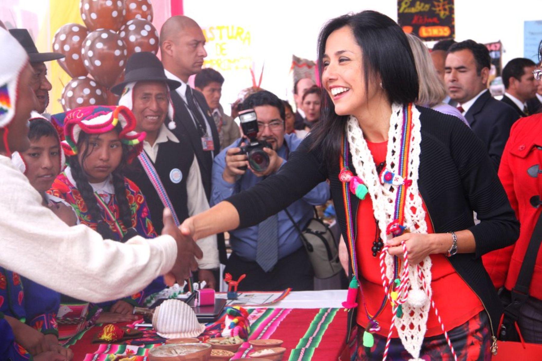 La Primera Dama de la Nación, Nadine Heredia Alarcón. Foto: ANDINA/Difusión.