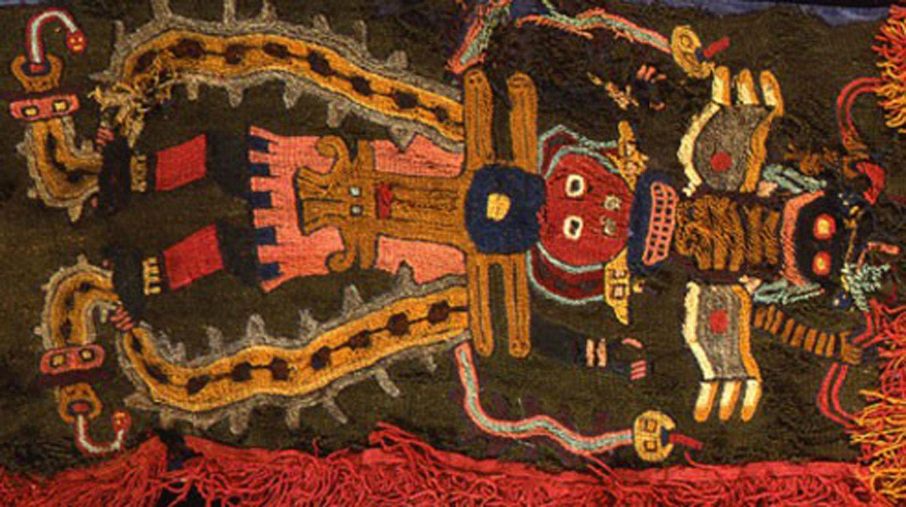One of the ancient Paracas textiles to be returned by Sweden.