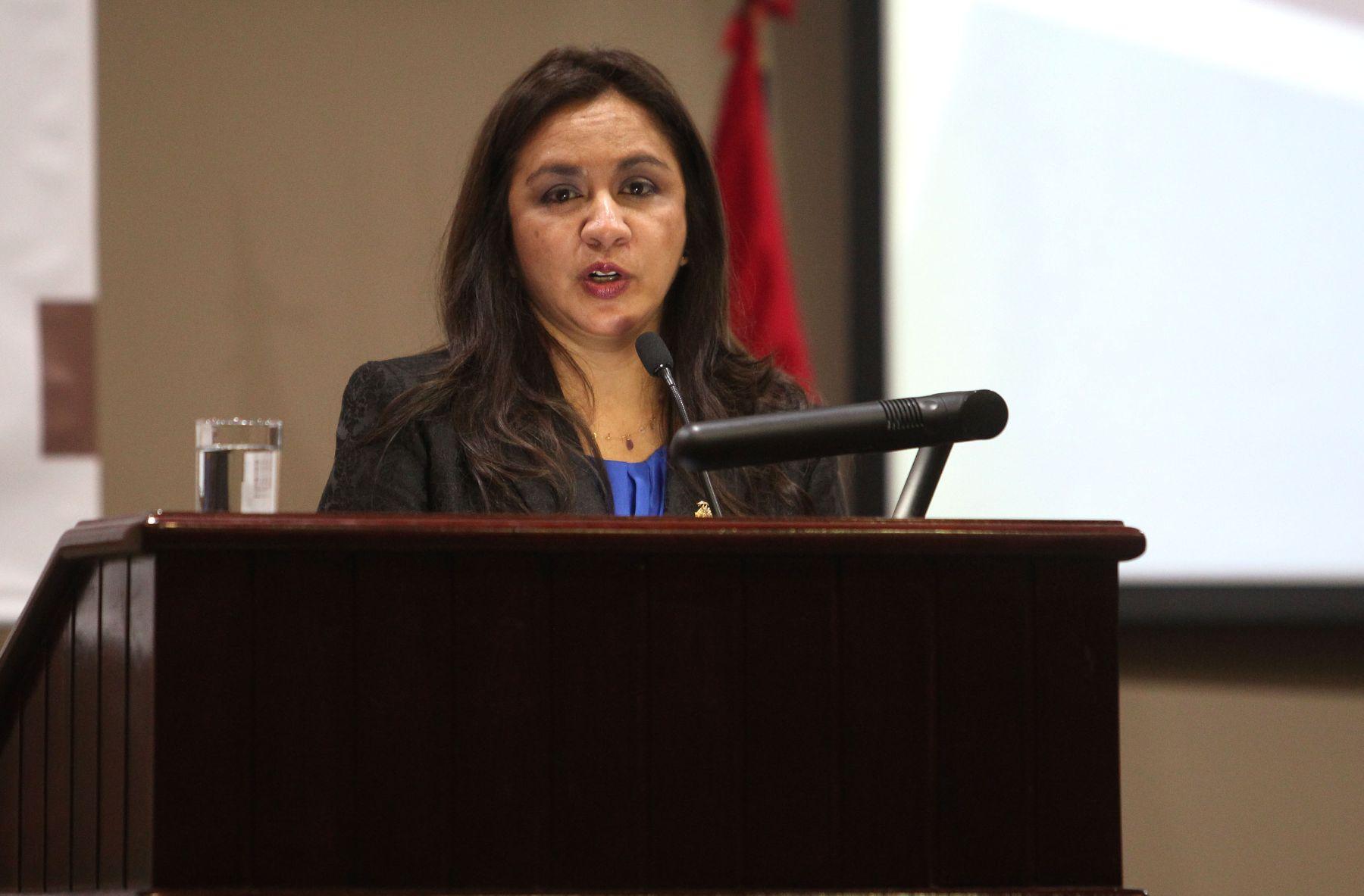 Peruvian Vice President Marisol Espinoza. Photo: ANDINA