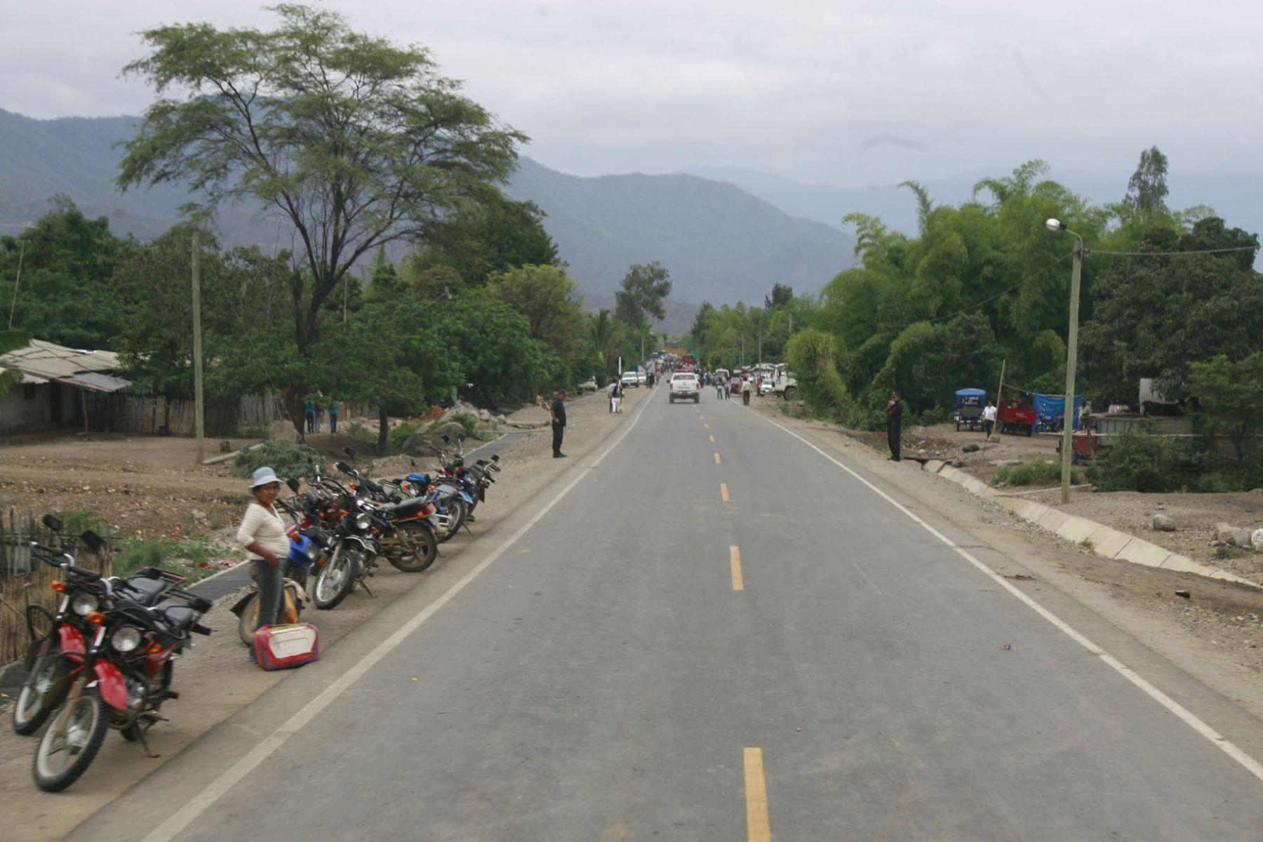 Carretera en Huancabamba. Foto: ANDINA/archivo.