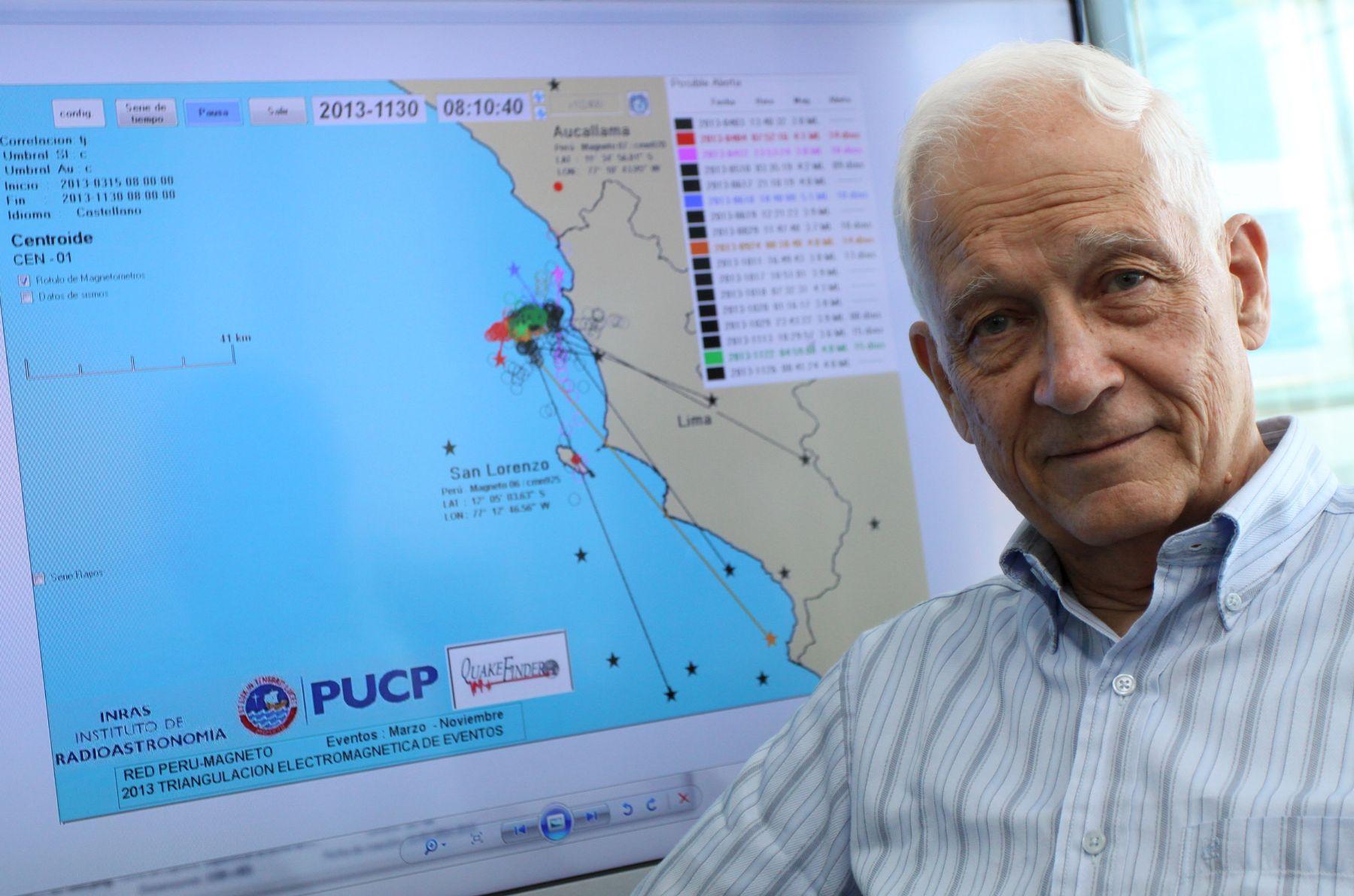 Jorge Heraud, director del Instituto de Radioastronomía de la Universidad Católica. Foto: ANDINA/Carlos Lezama