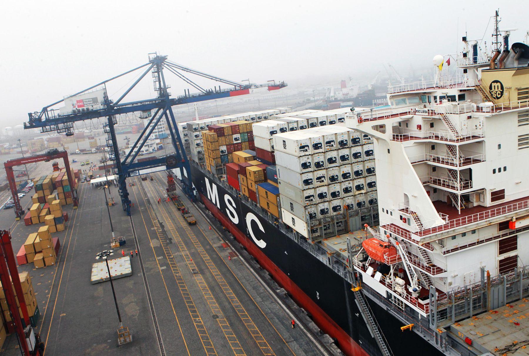 Exportaciones a Estados Unidos. ANDINA/Carlos Lezama