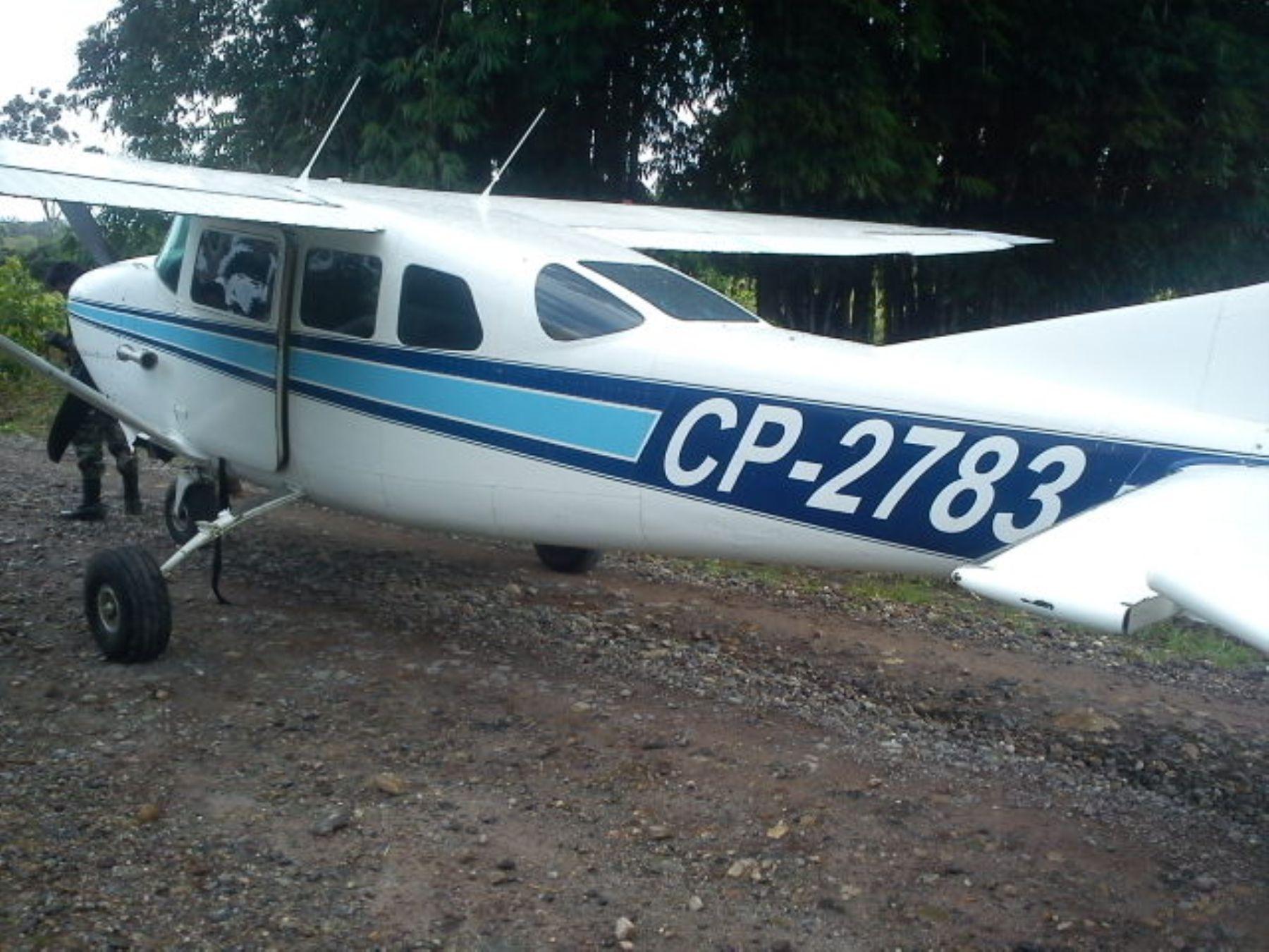 Intervienen avioneta con droga en Oxapampa