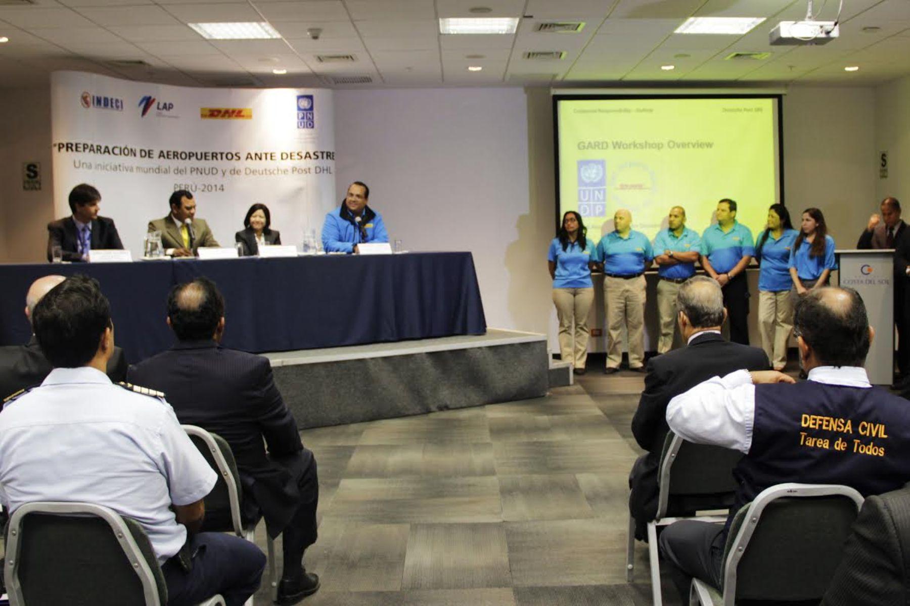 Taller Preparación de Aeropuertos ante desastres. PNUD- INDECI-DHL