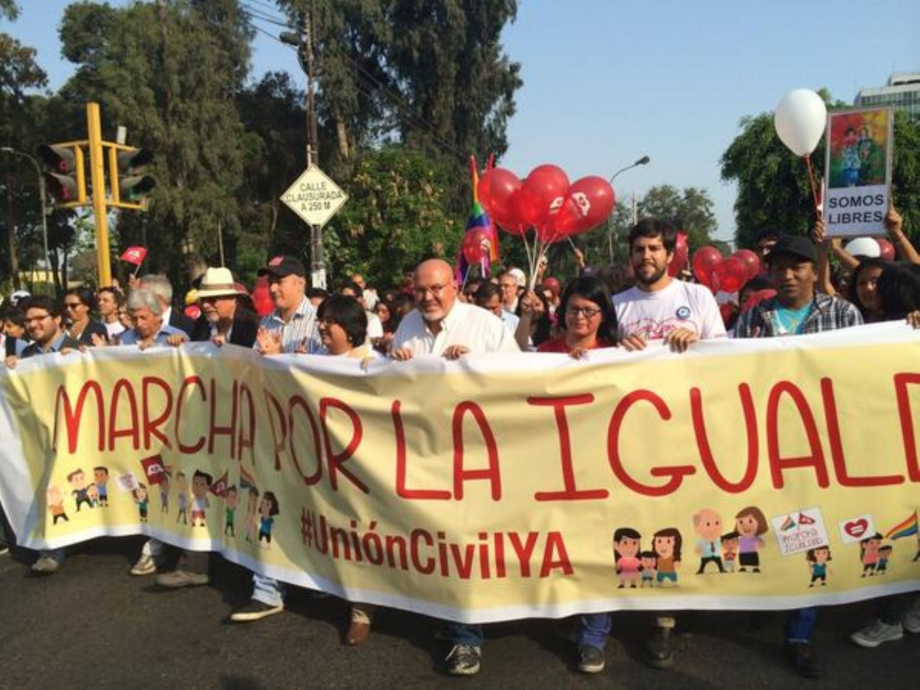 Marcha por Unión Civil recorre Centro de Lima. Foto: @esthervargasc