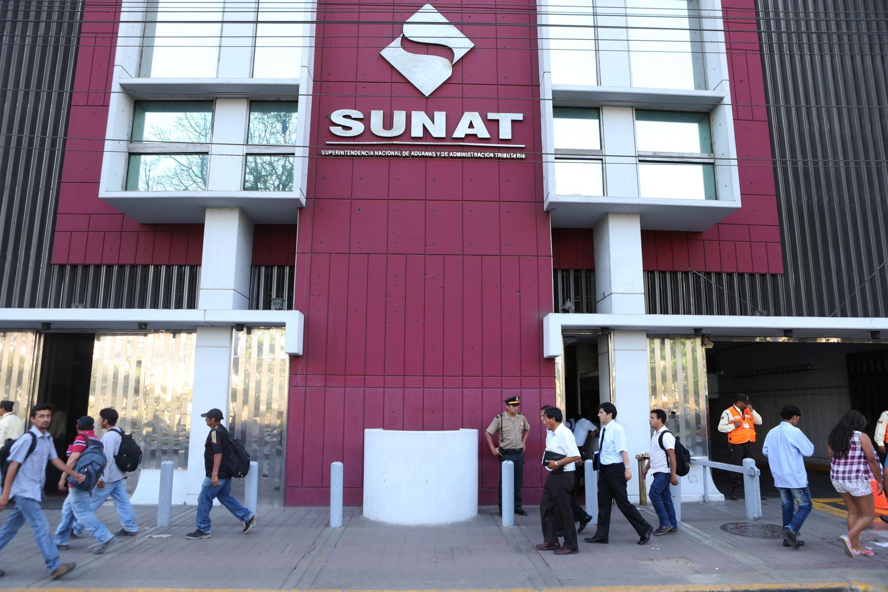Superintendencia Nacional de Aduanas y de Administración Tributaria (Sunat). Foto: ANDINA/archivo
