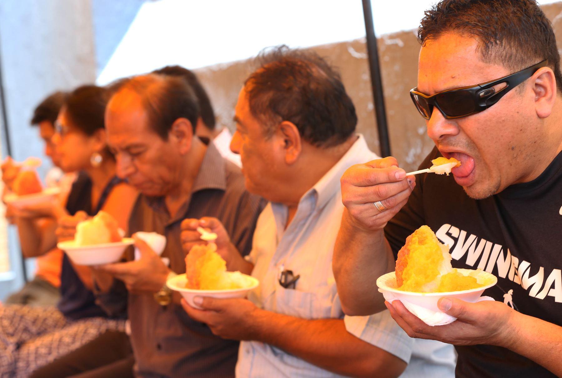 A disfrutar en el festival del helado y la raspadilla.ANDINA/archivo