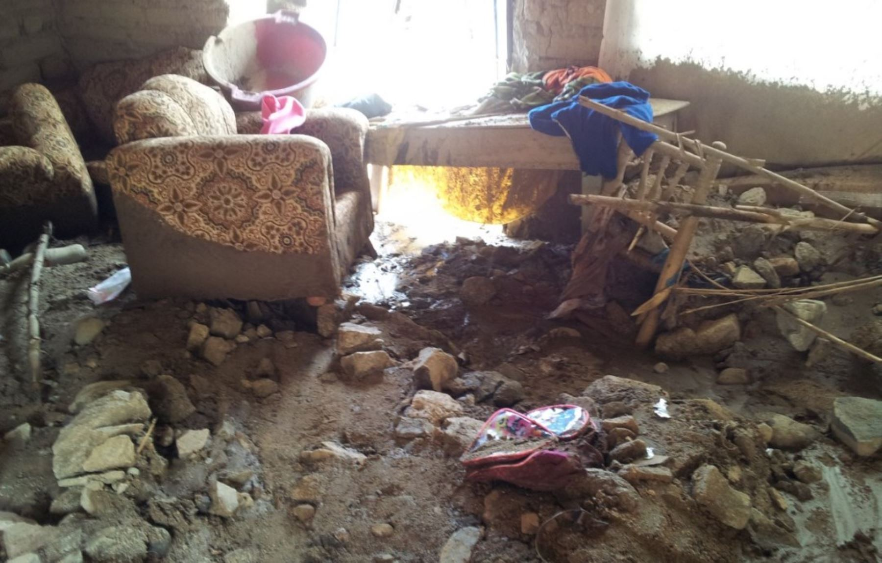 Viviendas resultaron afectadas por las lluvias e inundaciones. ANDINA/Difusión