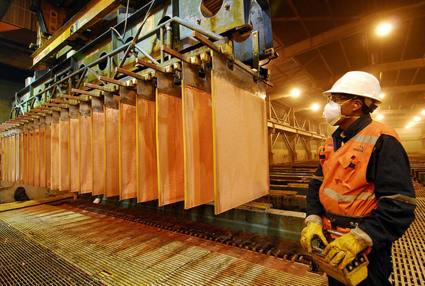 Producción de cobre. AFP