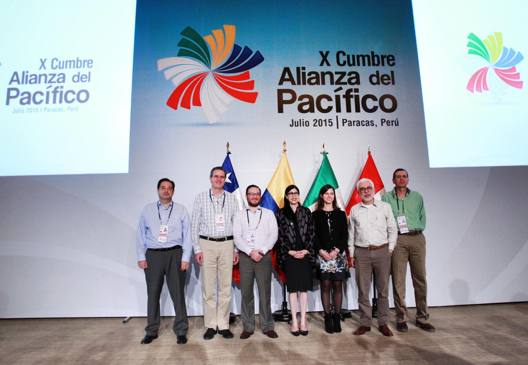 PARACAS, PERÚ - JULIO 01. Foto oficial de la Cumbre de Vice Cancilleres Alianza del Pacífico. Foto: ANDINA/Melina Mejía