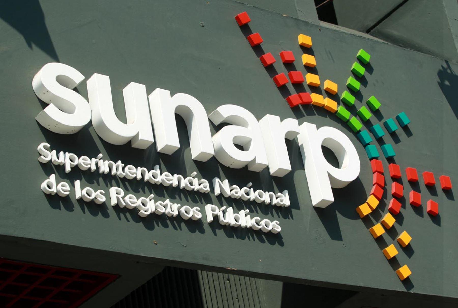 Superintendencia Nacional de los Registros Públicos (SUNARP). Foto: ANDINA/Melina Mejía