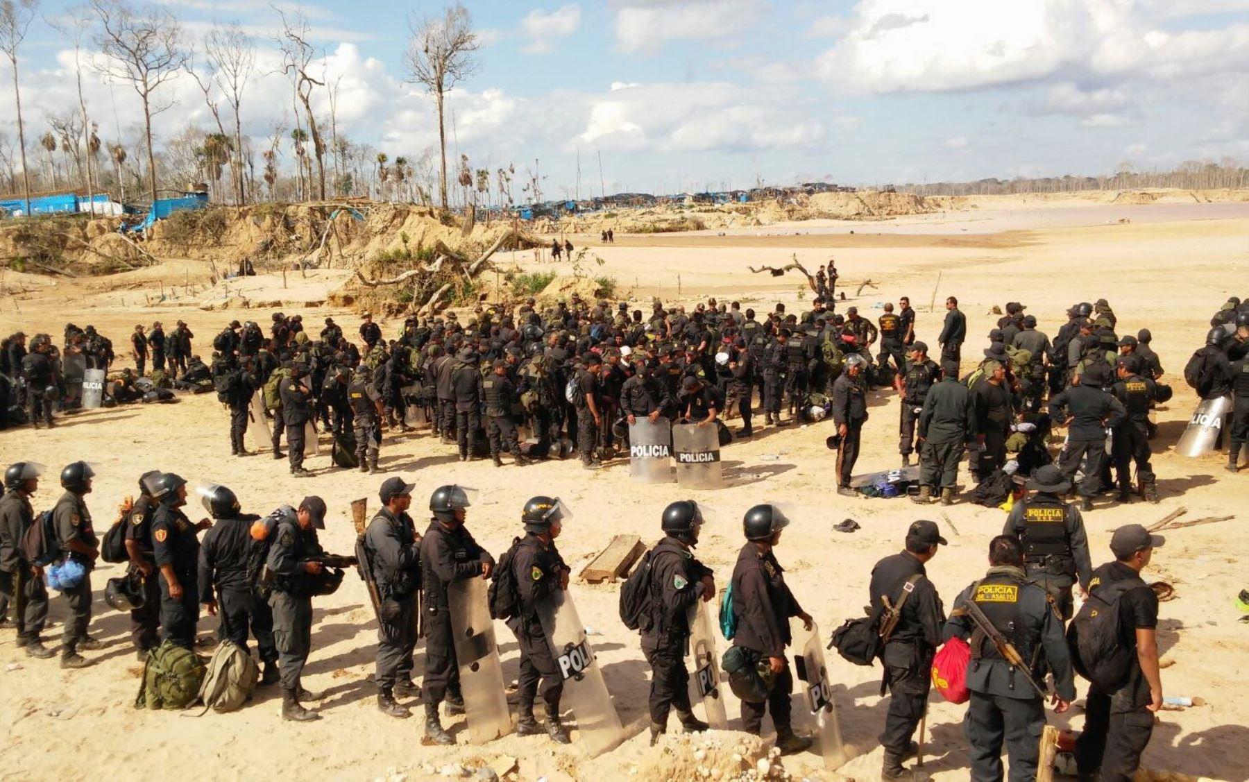 Operativo contra la minería ilegal. ANDINA/Difusión