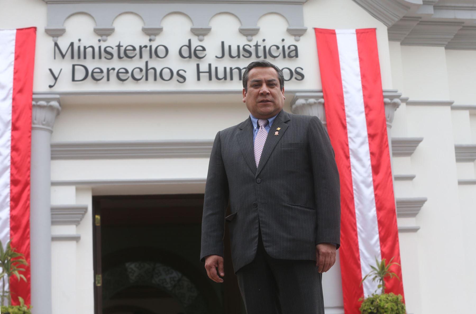 Ministro de Justicia, Gustavo Adrianzén. ANDINA/Vidal Tarqui