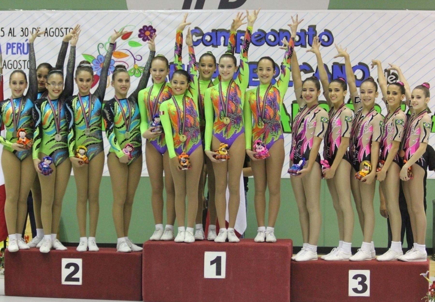 Peru claims 8 medals at 2015 south american championship for Gimnasia aerobica