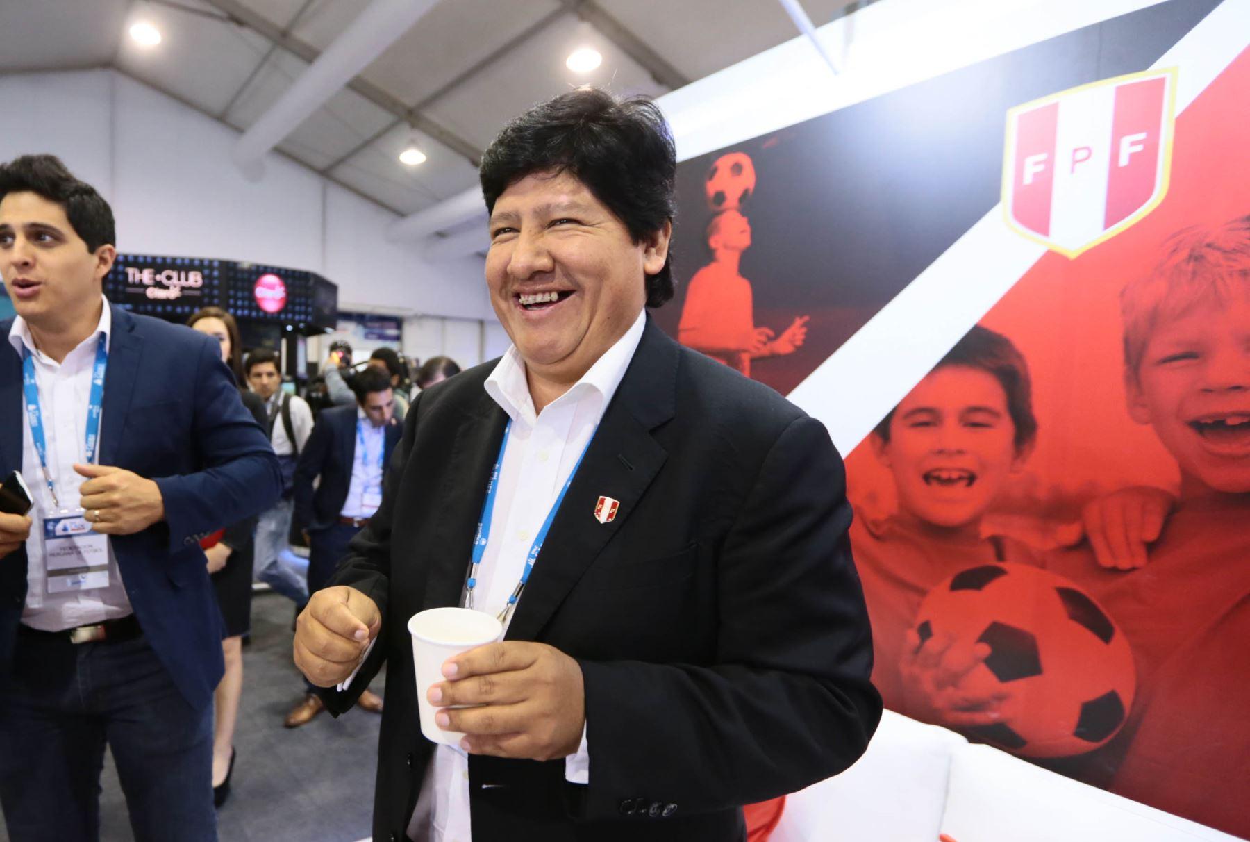 Presidente de la FPF, Edwin Oviedo. Foto: ANDINA/Carlos Lezama.