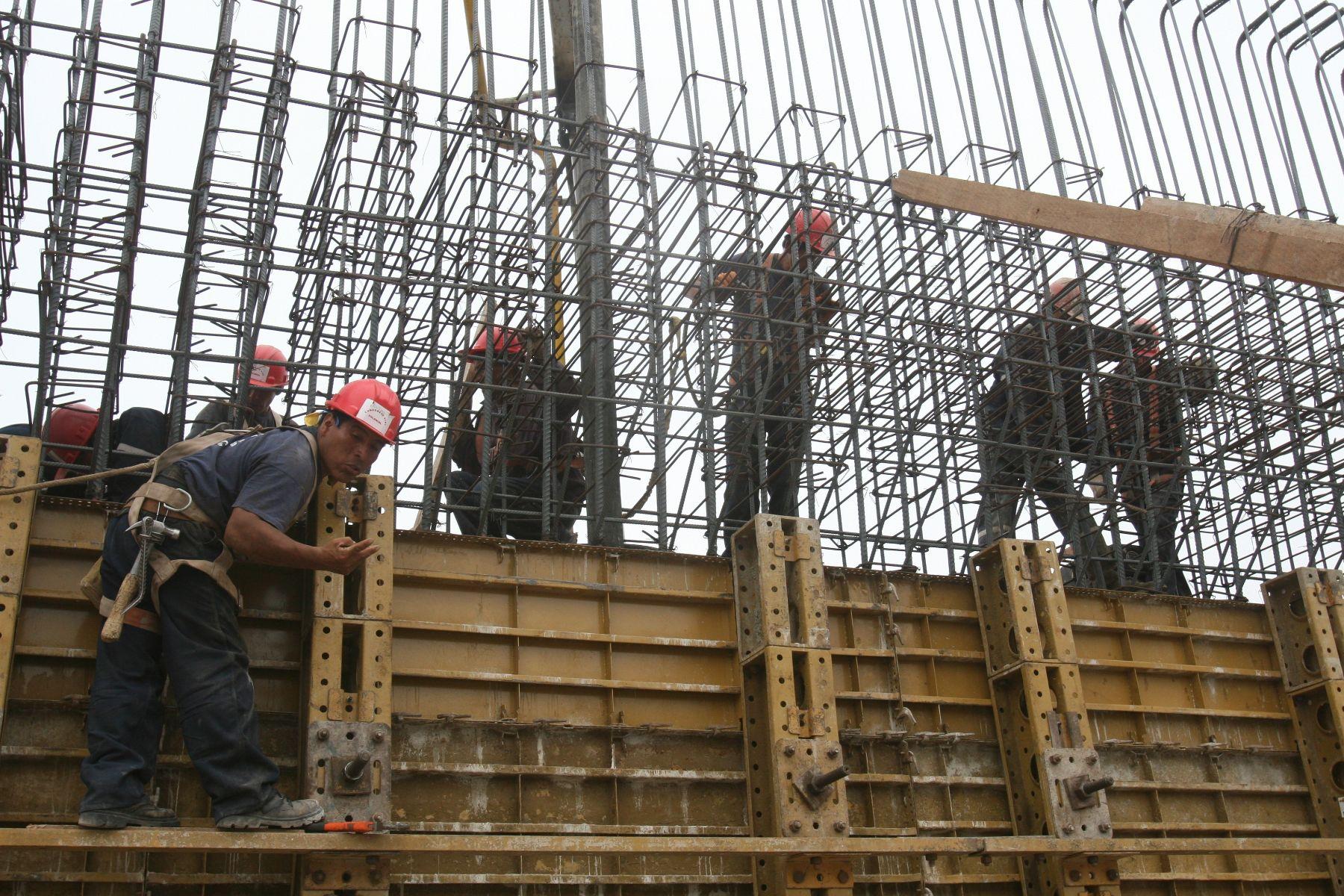 Obras de construcción. Foto: ANDINA/archivo