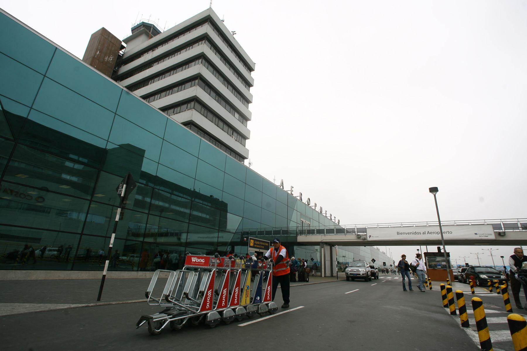 Aeropuerto internacional Jorge Chávez de Lima. Foto: ANDINA/ archivo /Piero Vargas