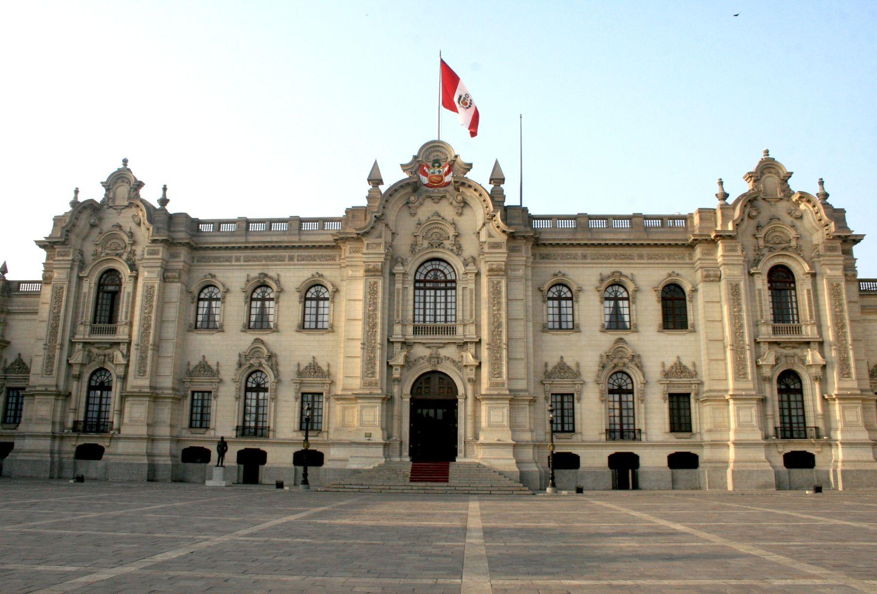 Fachada de Palacio de Gobierno. Foto:ANDINA/Archivo