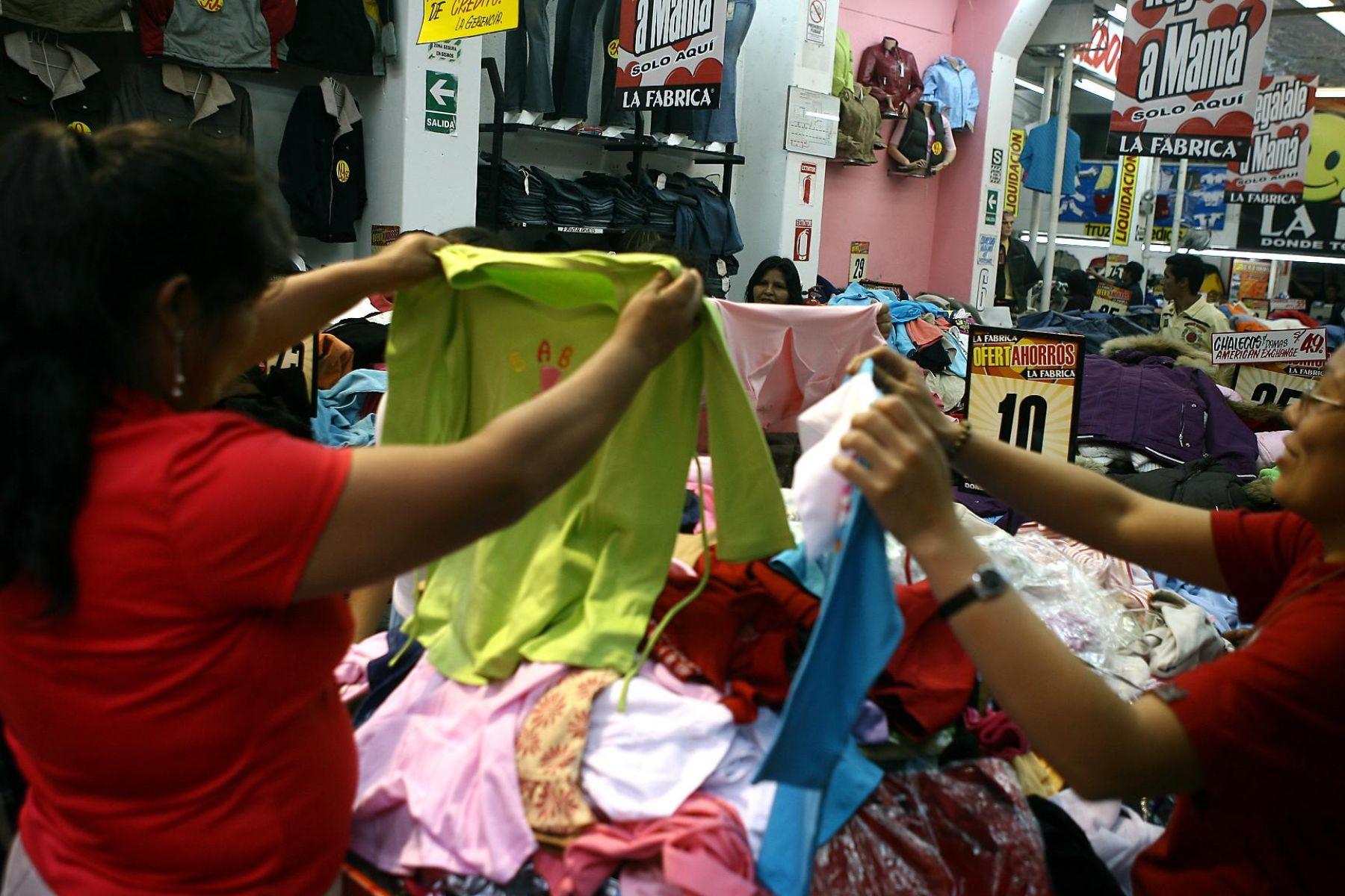 Confecciones peruanas. Foto: ANDINA/archivo