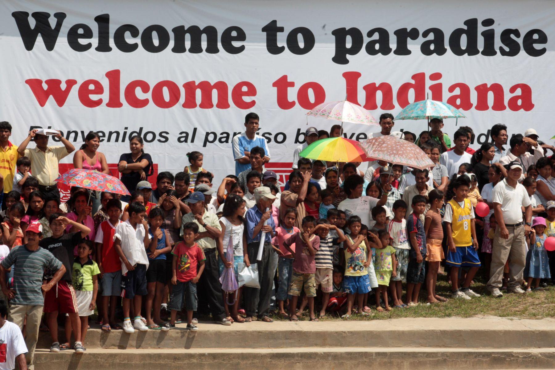 Pobladores del distrito de Indiana dan la bienvenida a delegados del APEC. Foto: ANDINA/ Piero Vargas