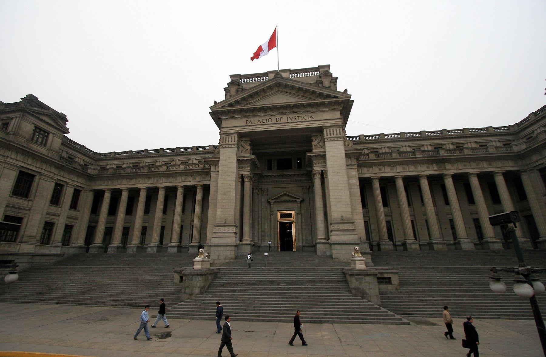 Palacio de Justicia. Foto: ANDINA/Archivo.