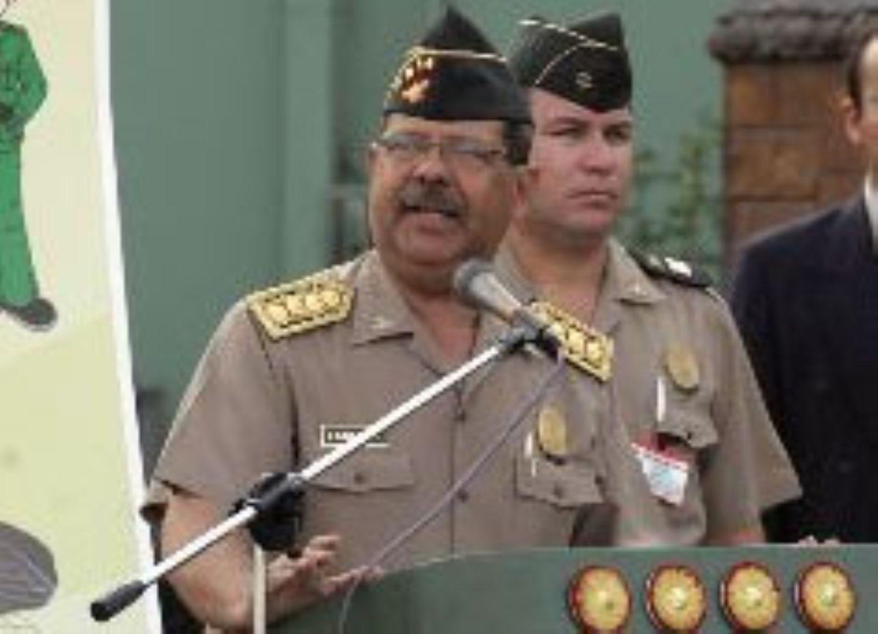El Director General de la Policía Nacional, Octavio Salazar. Foto: Andina/Archivo.
