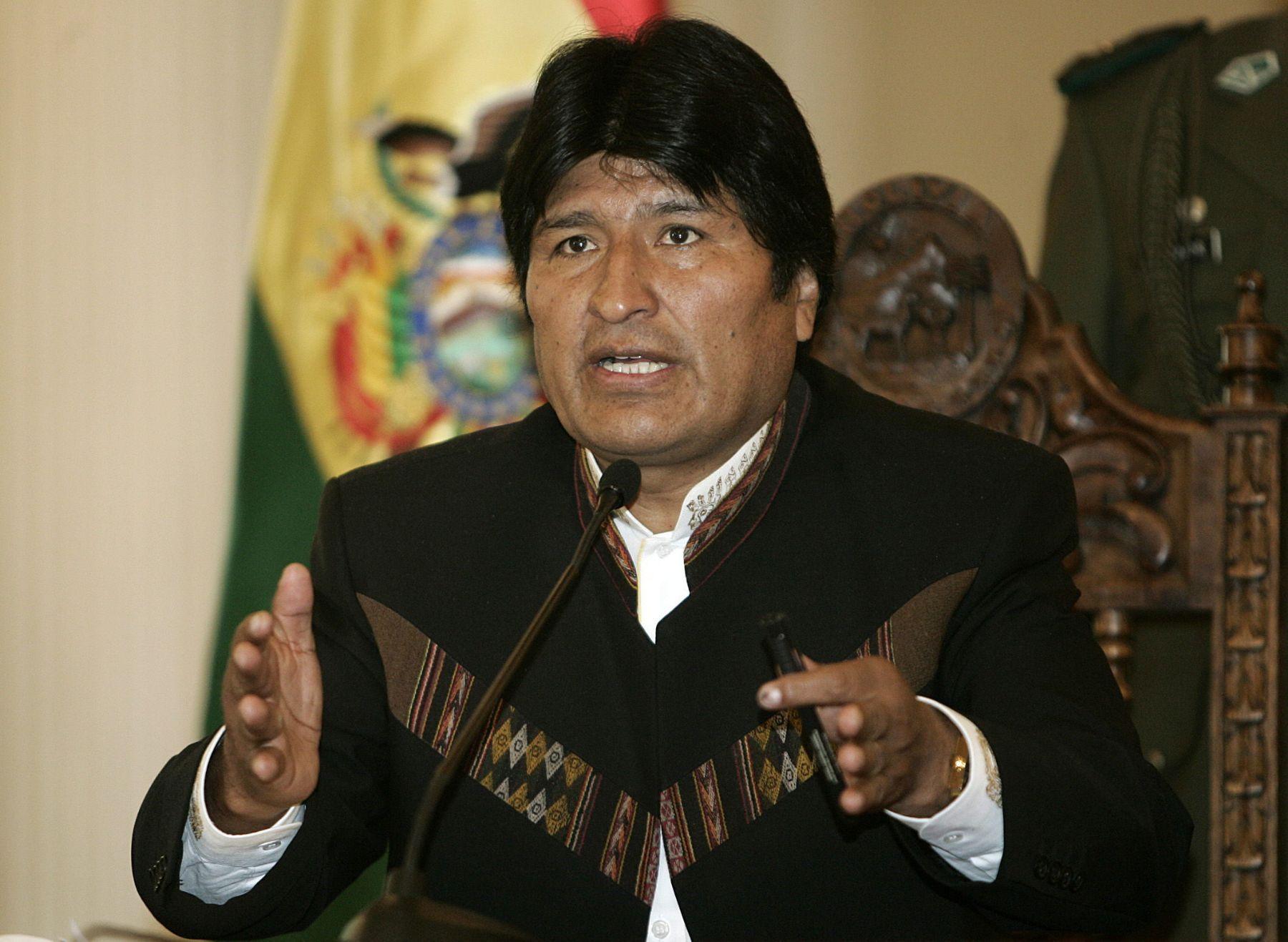 Presidente de Bolivia, Evo Morales. FOTO:Andina/archivo.