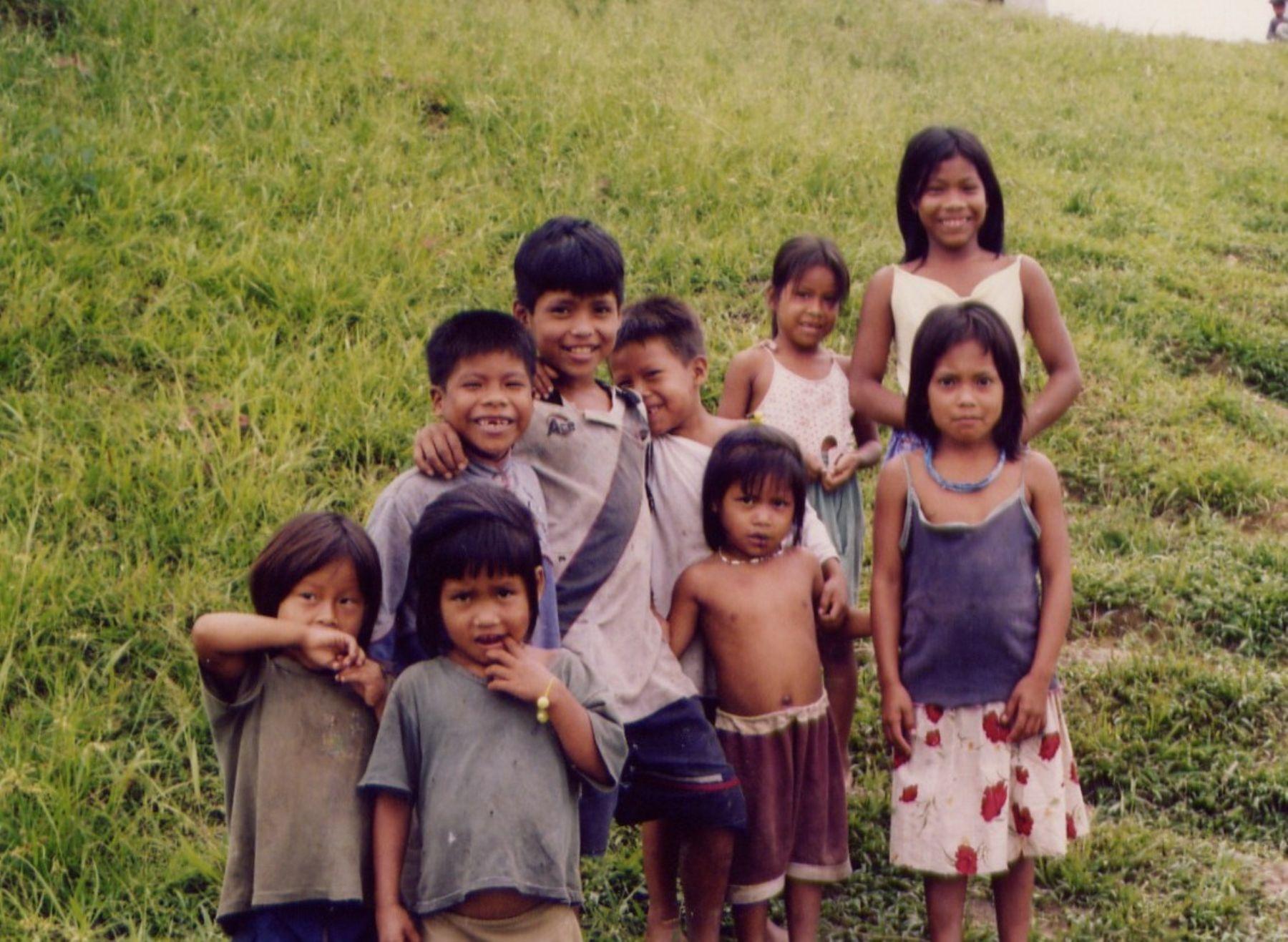 Niños nativos de la amazonía peruana. Foto: ANDINA / Archivo.