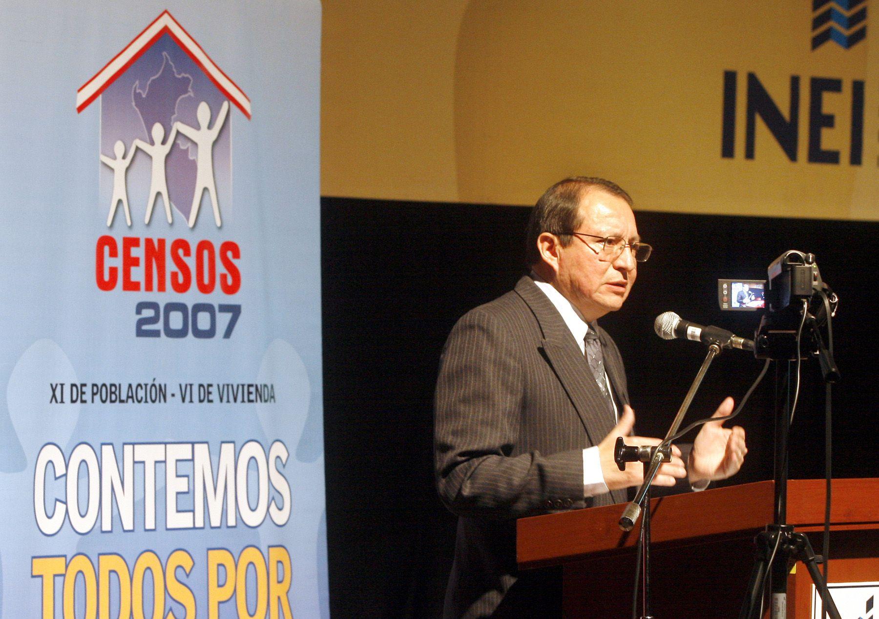 Renán Quispe, jefe del INEI. Foto: ANDINA/Stephanie Zollner.