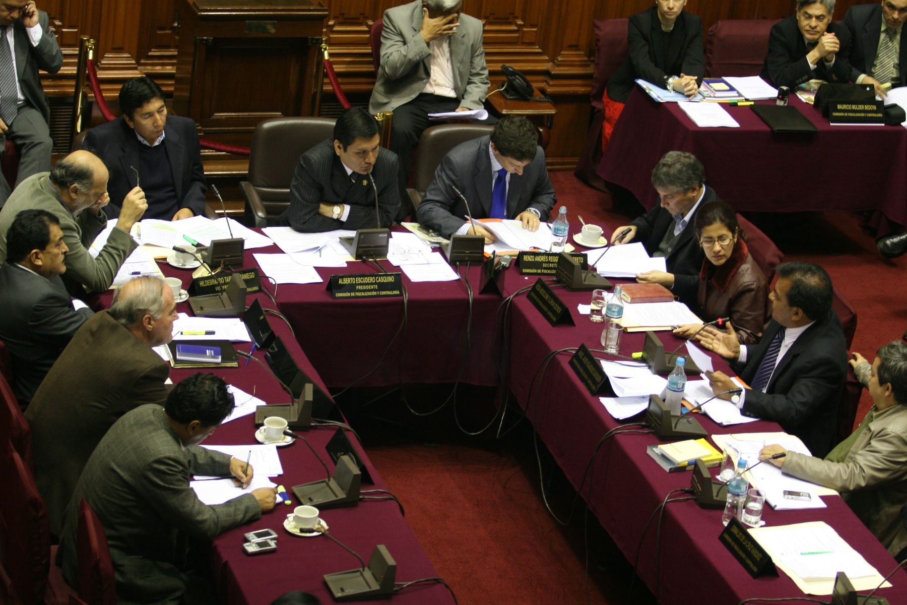 Comisión de Fiscalización del Congreso. Foto: ANDINA/Víctor Palomino Gómez.