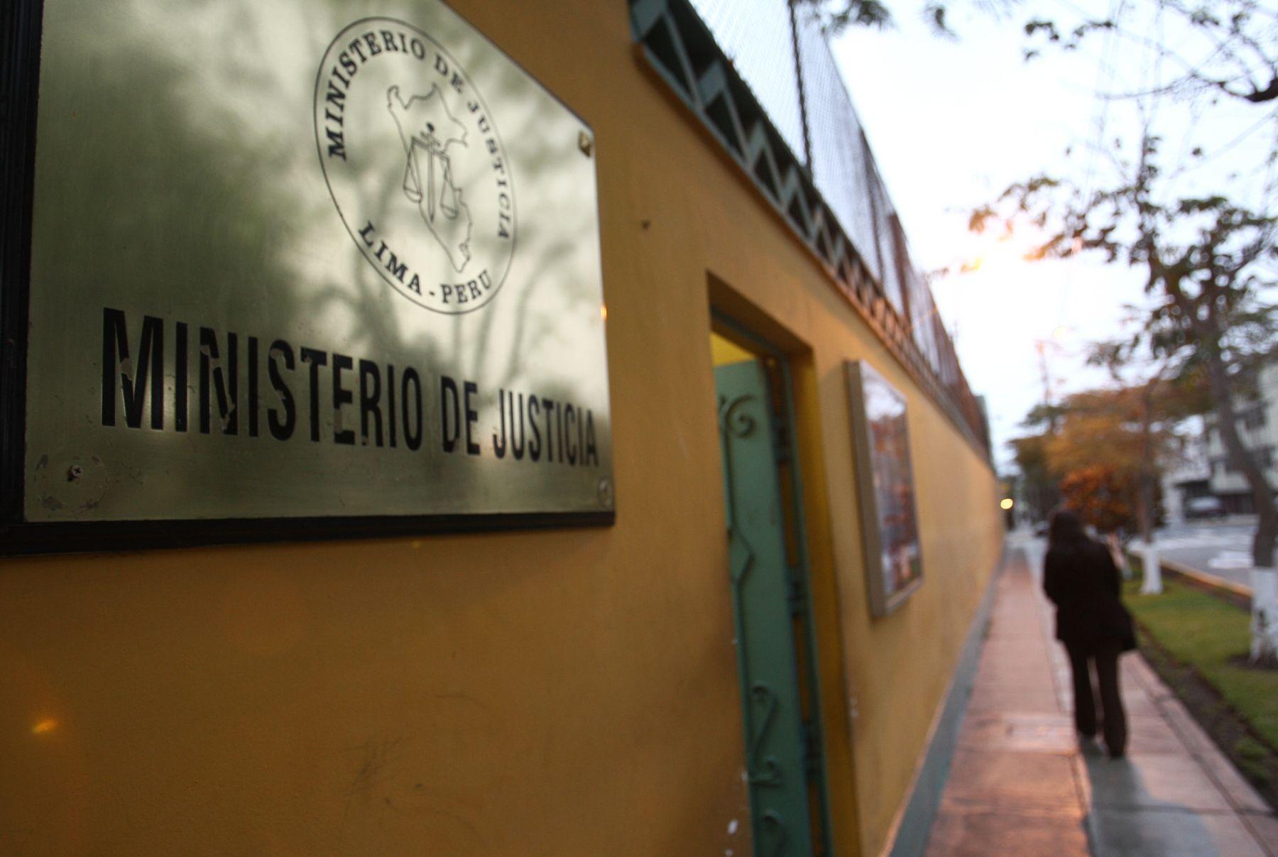 Ministerio de Justicia. Foto: ANDINA/Jack Ramón Morales.