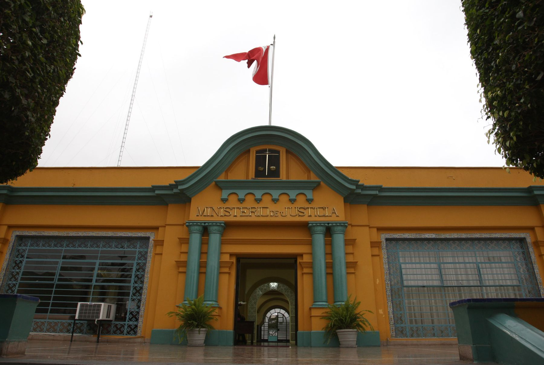 Fachada del Ministerio de Justicia.Foto:ANDINA/Jack Ramón Morales