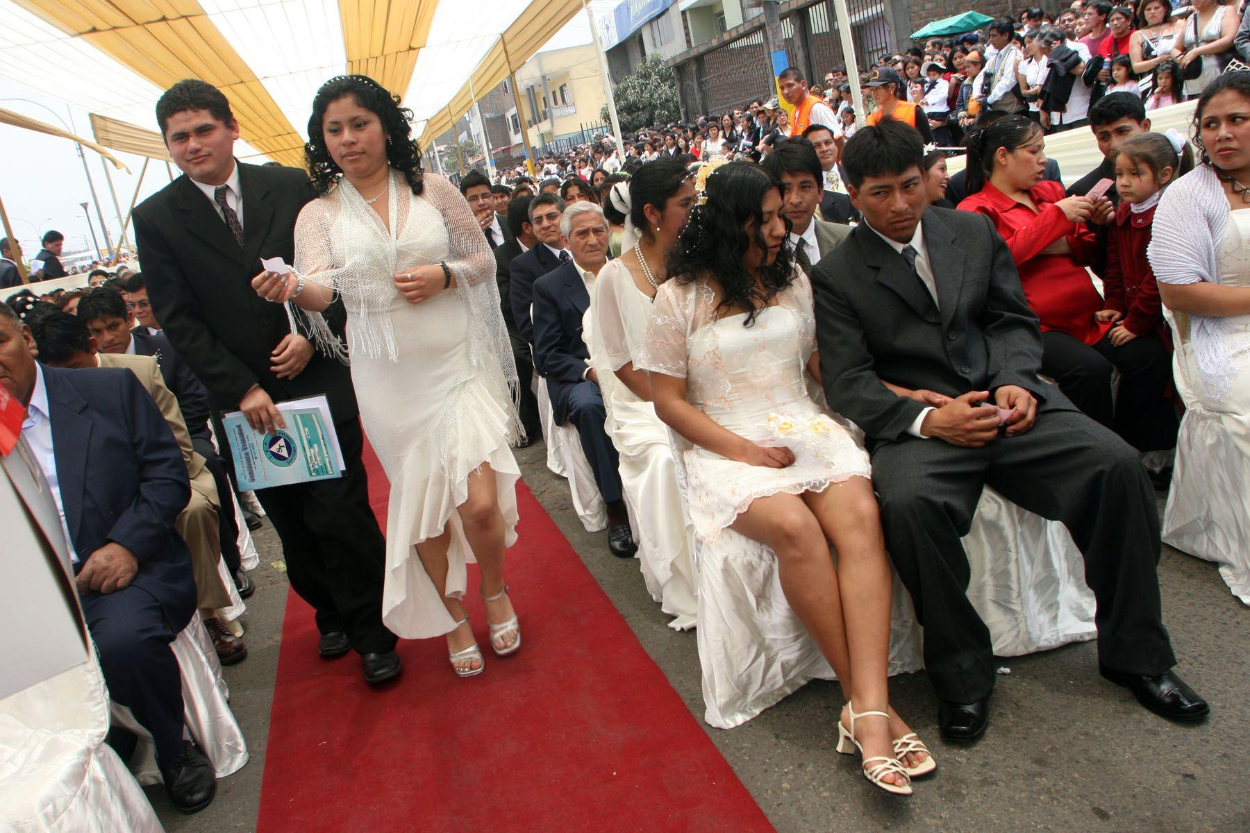 Matrimonios masivos costarán 80 soles en San Luis. Foto: ANDINA/Archivo.