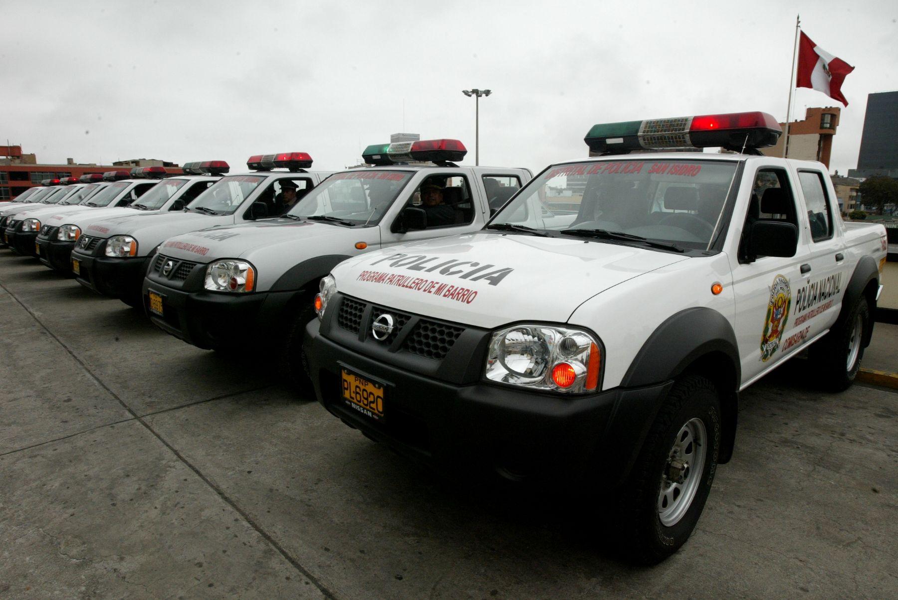 PNP será equipada con 980 patrulleros en 2013 para fortalecer la seguridad. Foto: ANDINA/Archivo.