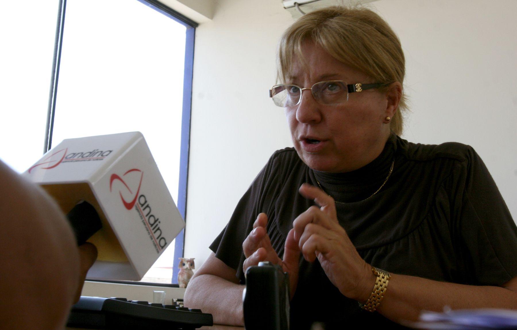 Maria Jesús Ainsa, gerente General del Centro de Diagnostico Vehicular ( CEDIVE ).Foto : ANDINA/ Jorge Paz H