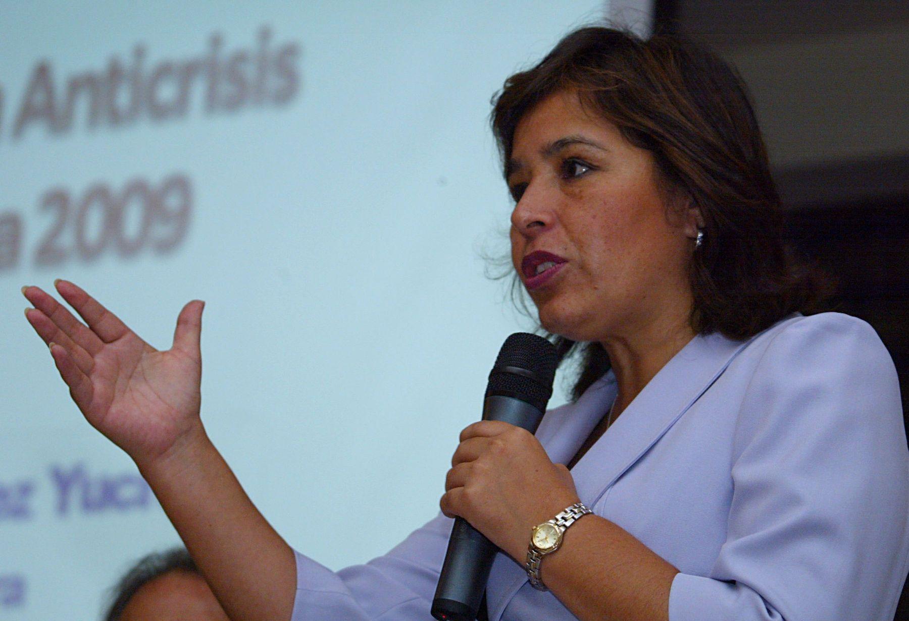 Nidia Vílchez, ministra de Vivienda y Construcción. Foto: ANDINA/Archivo.