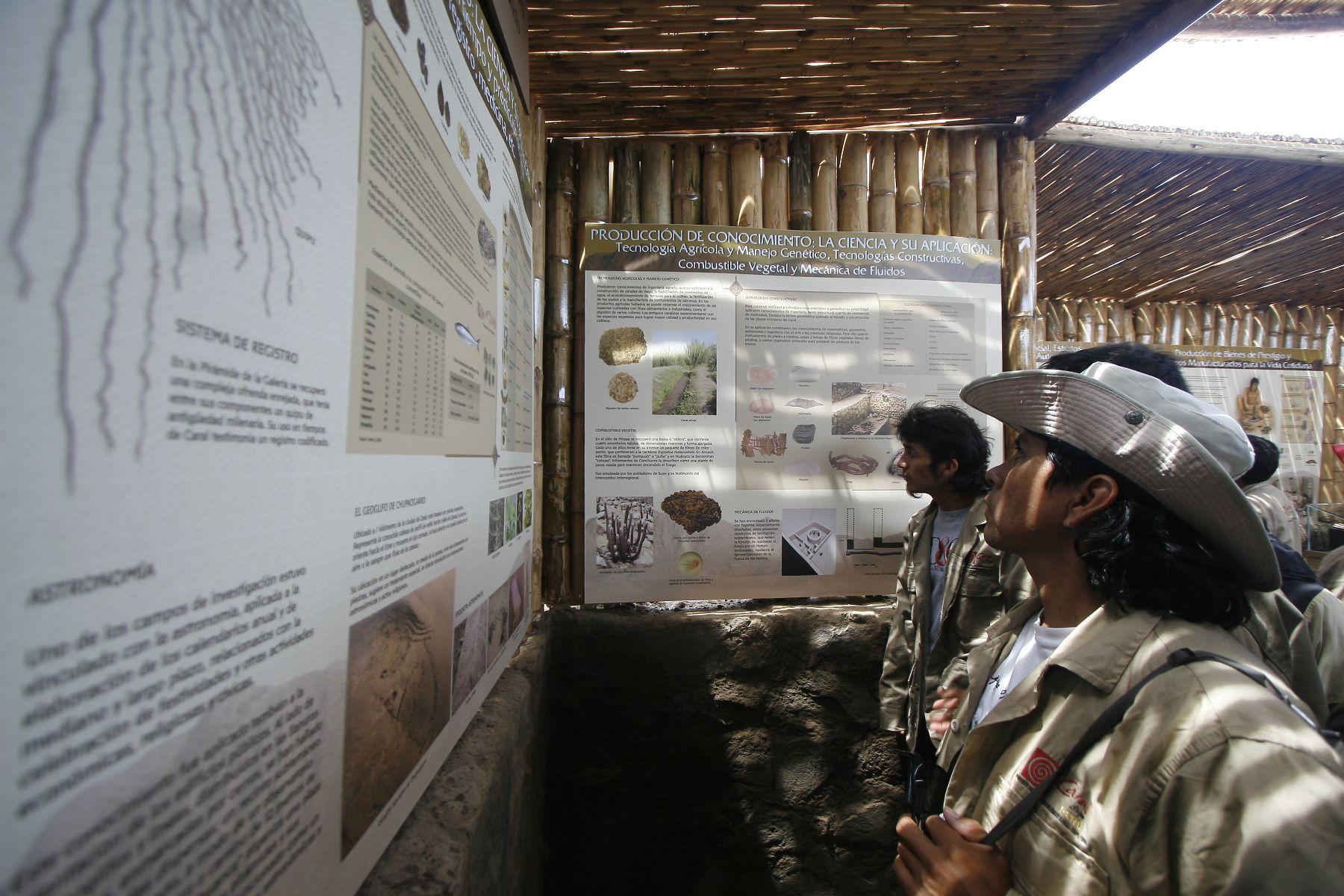Circuito arqueológico de Áspero. ANDINA/archivo