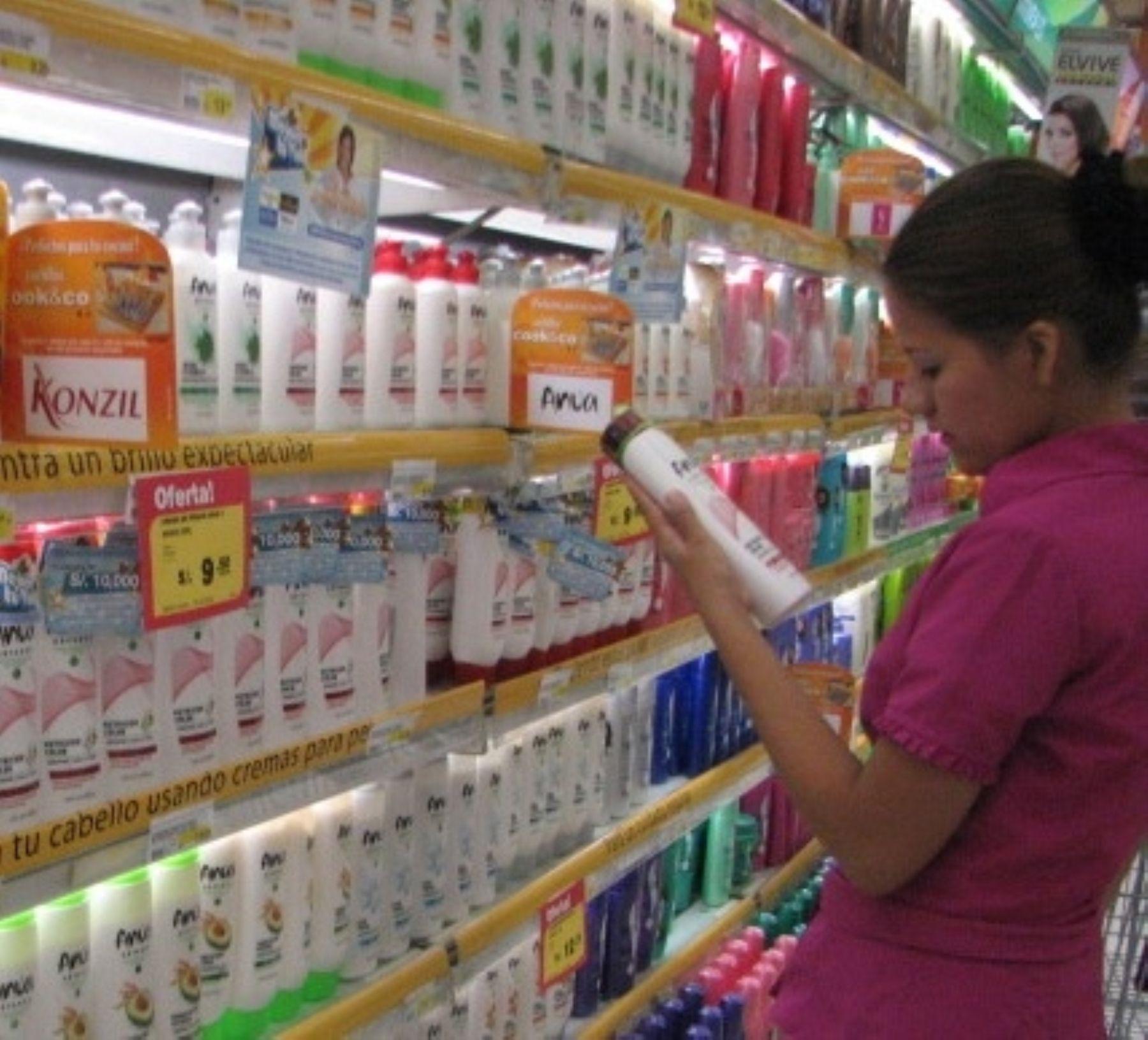 Venta en supermercados. Foto: Andina/Difusión.