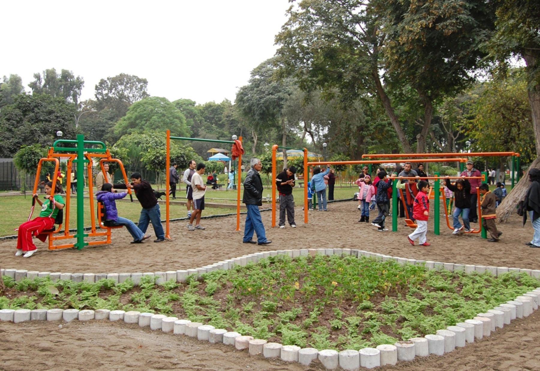 Parque mariscal castilla de lince cuenta con gimnasios for Viveros en lima