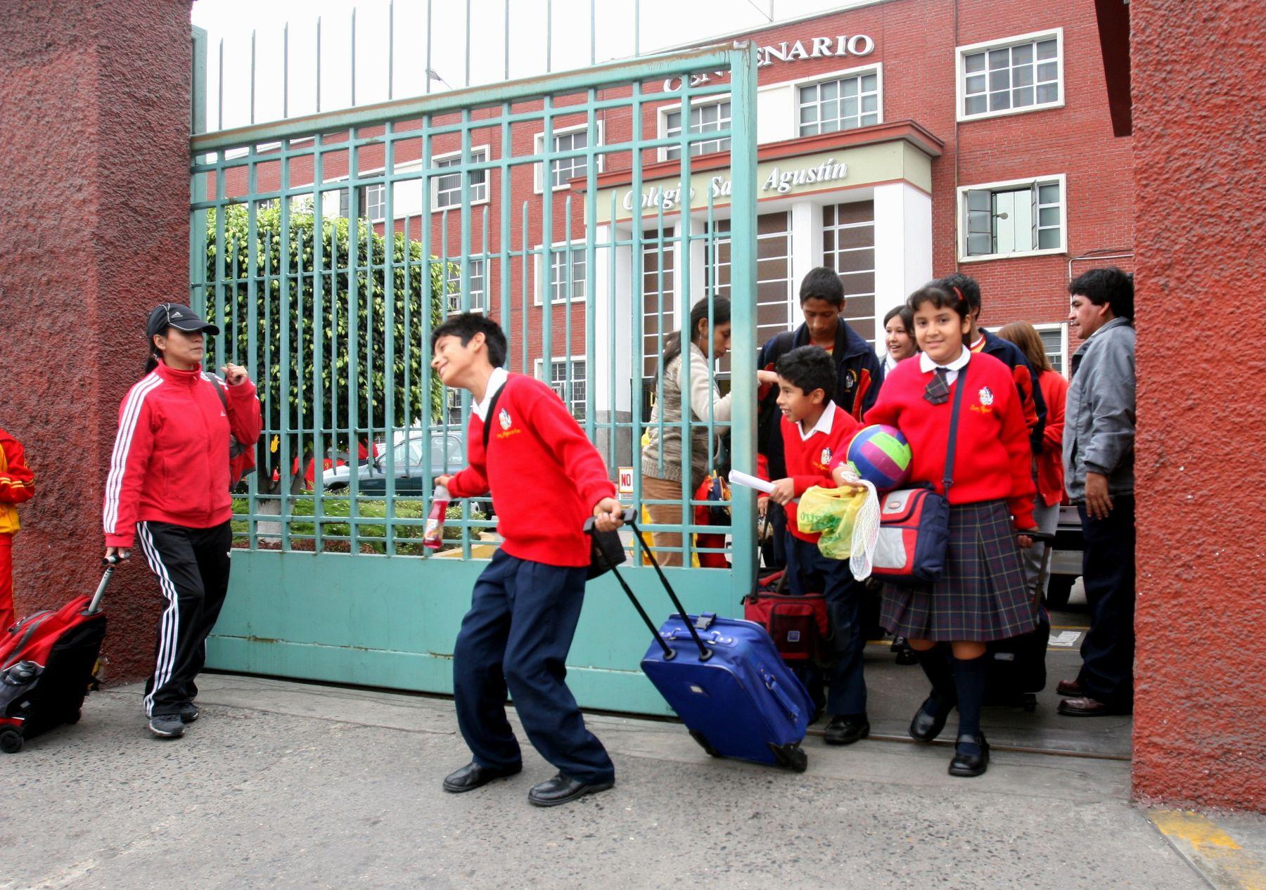 Escolares volverán a las aulas el lunes 3 de agosto. Foto : ANDINA/Archivo.