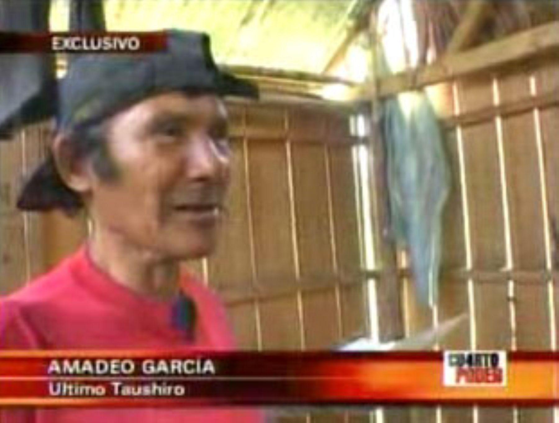 Ultimo taushiro peruano, Amadeo García. Foto: Andina/Captura TV