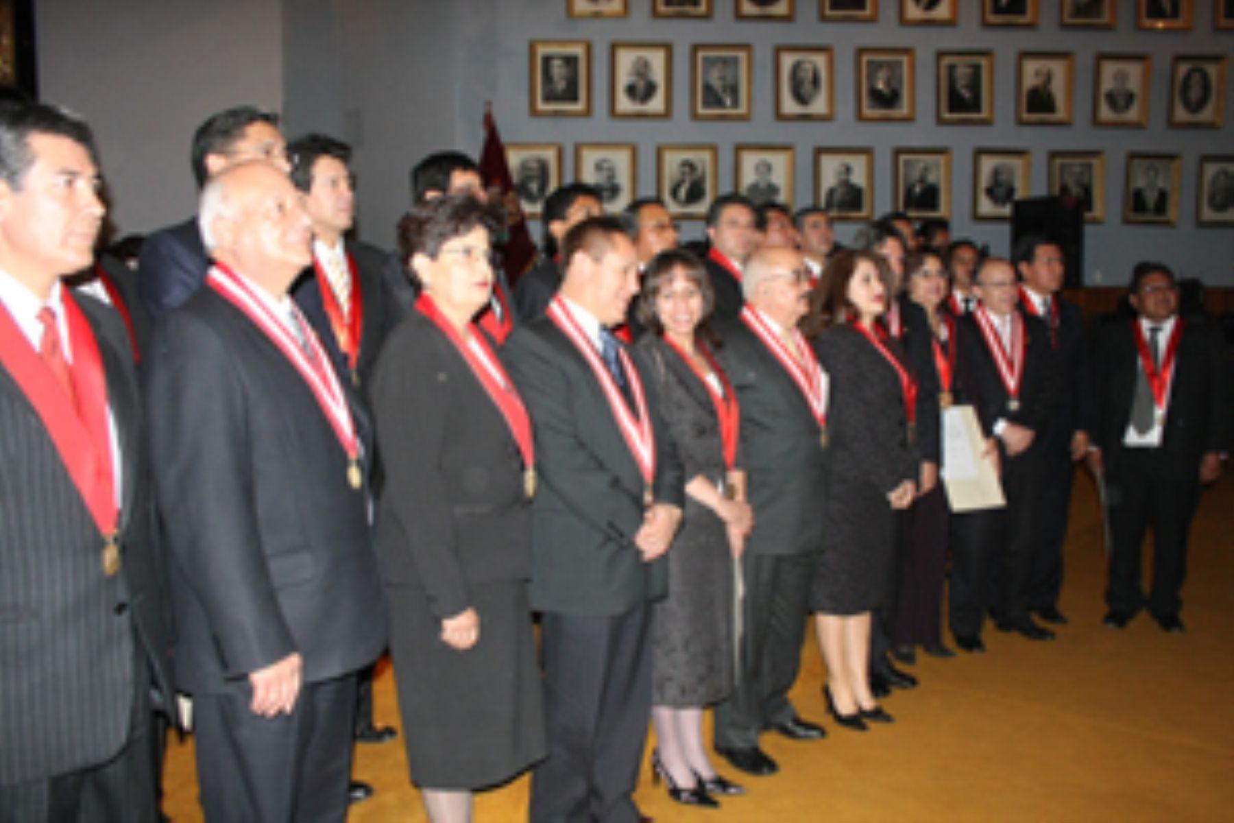 Nombramiento de jueces y fiscales. Foto:Archivo.