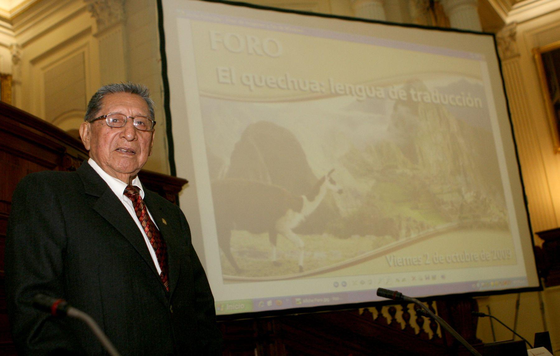 Demetrio Túpac Yupanqui falleció a los 95 años