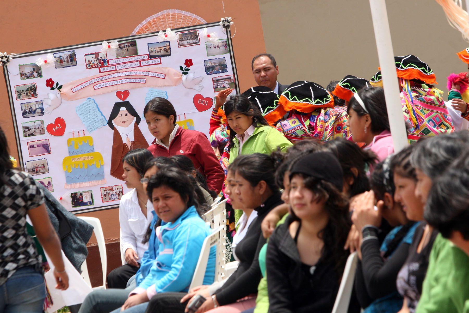 Ceremonia por aniversario del Centro Ermelinda Carrera. Foto: ANDINA / Carolina Urra.